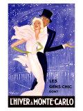 L'Hiver a Monte Carlo Giclee Print
