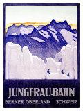 Jungfrau Bahn Gicléetryck av Emil Cardinaux