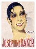Josephine Baker Stampa giclée di Gaston Girbal