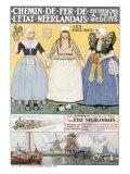 Chemin de Fer de l'Etat Giclee Print by Henri Cassiers