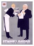 Stuhr's Caviar Gicléetryck av Ludwig Hohlwein