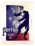 Perrier Mineral Water Giclee-trykk av Adolphe Mouron Cassandre