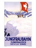 Jungfraubahn Gicléetryck av Emil Cardinaux