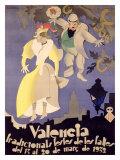 Valencia Giclée-tryk af  Vercher