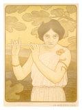 La Joyeuse de Flute Giclee Print by Paul Berthon