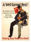A Well Earned Rest Giclée-tryk af Frank Mather Beatty