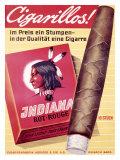 Cigarillos Indiana Giclée-vedos