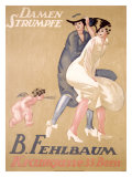 Damen Strumpfe B. Fehlbaum Gicléetryck av Emil Cardinaux