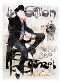 Le Grillon Gicléetryck av Jacques Villon