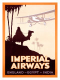Imperial Airways, England-Egypt-India Giclée-tryk af  Peckham