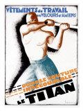 Le Titan Giclée-tryk af Leon Dupin