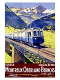 Montreux Oberland Giclee Print by  Elzingre