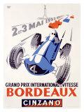 Grand Prix International de Vitesse, Bordeaux Giclee Print