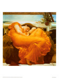 Flaming June, ca. 1895 Plakat af Frederick Leighton