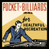 Billard als gesunde Freizeitbeschäftigung Poster