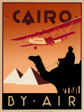 Cairo by Air Plakat af Brian James