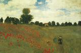 Mohnblumen Poster von Claude Monet