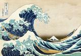 "Den store bølge ved Kanagawa, fra ""36 views of Mount Fuji"", ca.1829 Kunst af Katsushika Hokusai"