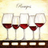 Les Vins Rouges Posters tekijänä Andrea Laliberte