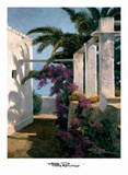 Bougainvillea and Palm Trees Posters by Poch Romeu