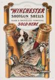 Winchester: un chien et une caille Plaque en métal