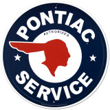 Pontiac Service Metalen bord
