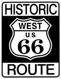 Die historische Route 66 Blechschild