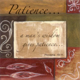 Words to Live By, Patience Poster di Debbie DeWitt