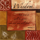 Words to Live By, Wisdom Stampe di Debbie DeWitt