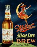 Miller High Life Brew Metalen bord