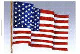 American Flag Print by Chariklia Zarris