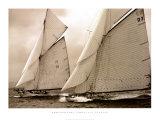 """Zwei Fife-Segelboote: """"Tuiga"""" und """"Moonbeam III"""" Kunst von Christian Fevrier"""