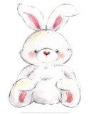 Rabbit Prints by  Makiko