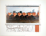The Gates Project for Central Park, X, New York Collectable Print by  Christo