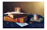 The Bankers Table Giclée-tryk af William Michael Harnett