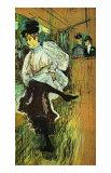 Jane Avril bailando Lámina giclée por Henri de Toulouse-Lautrec