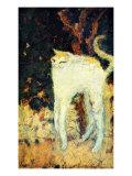 The White Cat Giclée-tryk af Pierre Bonnard