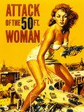 ataque de la mujer de 50 pies, El Láminas