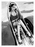 Pin-Up Girl: Nhra Dragster Giclee Print by David Perry