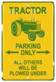 Tractor Blechschild