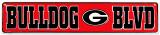 Georgia Bulldog Placa de lata