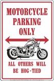 Motorcyklar Plåtskylt