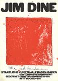 Red Bandana Plakater av Jim Dine