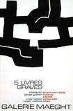 Fem allvarliga böcker, 1974 Samlarprint av Eduardo Chillida