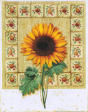 Flower with Border II Posters by G.p. Mepas