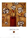 Red Vase II Art by Maria Eva