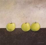 Grüne Äpfel Kunstdrucke von Anouska Vaskebova