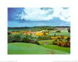 Sommer in der Provence II Kunstdrucke von L. Vallet
