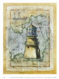 Leuchtturm II Poster von A. Vega