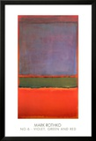 No. 6 (Violet, Green and Red), 1951 Poster by Mark Rothko